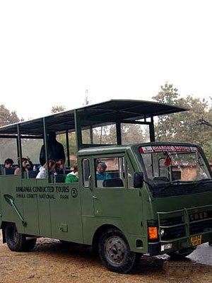 Online Dhikala Canter Safari booking inside Jim Corbett National Park